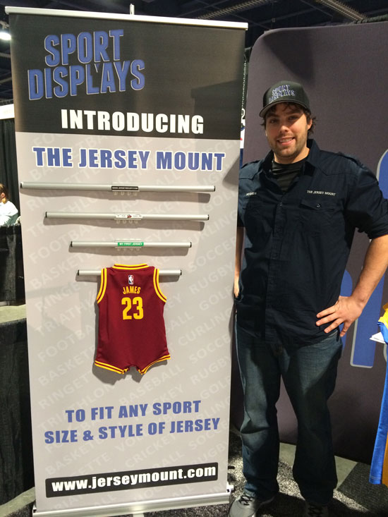 This product is made by a Sports fan for Sports fans. Check out the Jersey Mount by Nyden Kovatchev, Founder of The Sport Displays!
